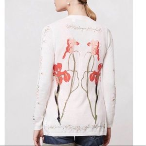Anthropologie Guinevere Tousled Vines Cardigan M